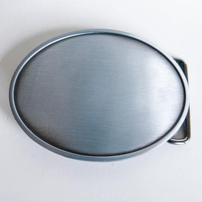 Gürtelschnalle für 4cm breite Gürtel - oval 9x6,8cm