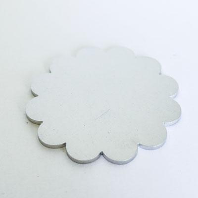 Bolo Tie Chromstahl: Blume - Ø 4,5cm