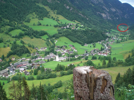 Ortschaft Muhr mit Moarhofer hinten rechts