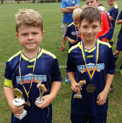 F-Jugend St. 1: Daniel Bosse und Luca Damaske, Blau-Gelb Ausleben