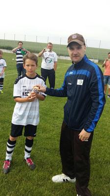 Mit 22 erzielten Treffern holte sich Samuel Elvin Wulf von den Ohre Spetze-Kickern die Torjägerkanone