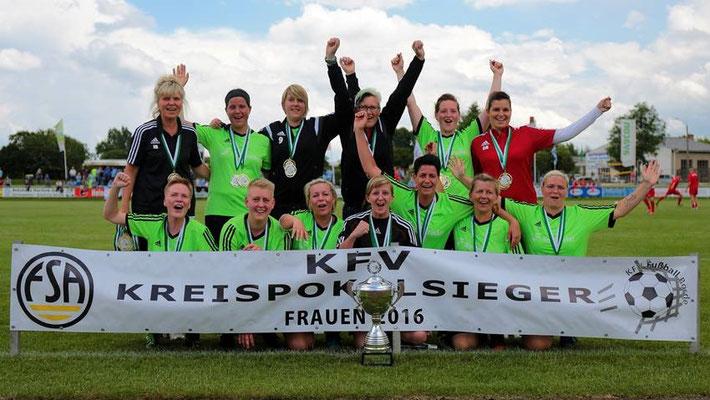 Die Kreispokalsiegerinnen 2016 von der SG Empor Klein Wanzleben