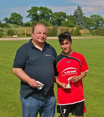 Torschützenkönig C-Jugend Staffel 2:  Mohamed Melek (1. FC Oebisfelde)