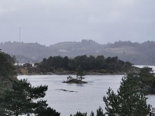 Eine Wahnsins aussicht über die Bucht von Tregde
