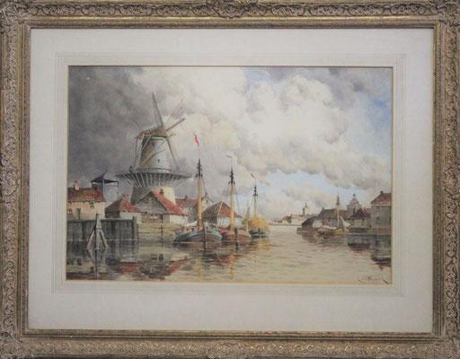 Hermanus Koekkoek Jr (1836-1909) | 3e Generatie Koekkoek | Taxatiewaarde: 1.450,= euro | MAAK EEN AFSPRAAK OF DOE EEN VRIJBLIJVEND BOD!