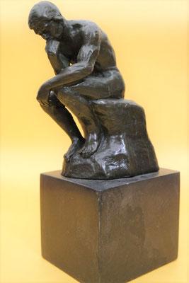 """Bronzen beeld """"De denker naar Rodin""""   Van 95,= euro   Nu te koop voor: 75,= euro"""