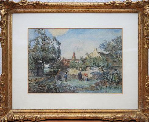 Willem Roelofs (1822-1897)   1e Generatie Haagse School   Museaal kunstwerk   Aquarel op papier   Beeldmaat: 21 cm. x 31 cm.   Genre kunstwerk   Taxatiewaarde: 3.500,= euro   Met echtheidscertificaat en taxatierapport