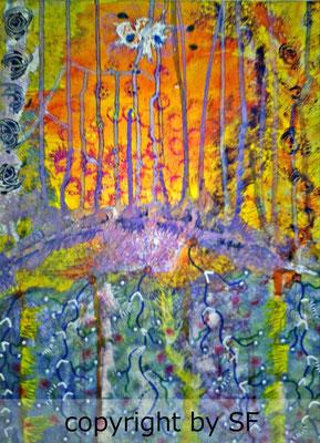 """""""Nervenbahnen"""" auf Leinwand, 30 x 40 cm"""