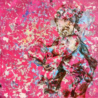 """ZWISCHEN ZEIT UND EWIGKEIT    //   59  x  59"""" (150 x 150 cm), oil and laquer on canvas, 2013"""