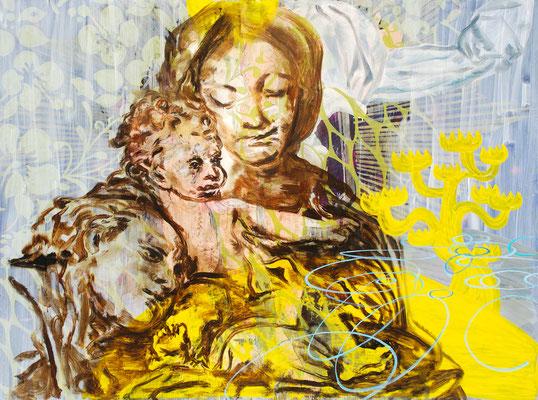 "SUBO LUBO    //    71"" x 94,5"" (180 x 240 cm), oil on canvas, 2011"