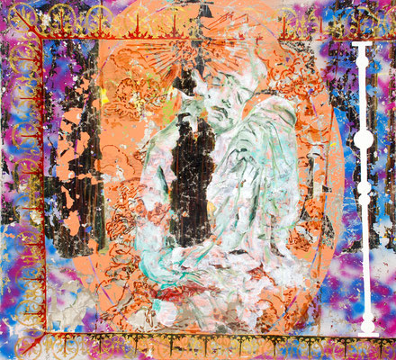 """GENIUS    //   65"""" x 71"""" (165 x 180 cm), oil and lacquer on canvas, 2011"""