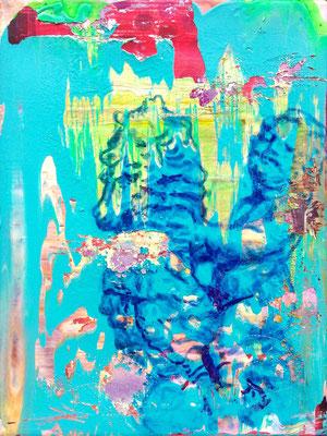 """DER TAUCHER    //   16"""" x 12"""" (40 x 30 cm), oil on canvas, 2015"""