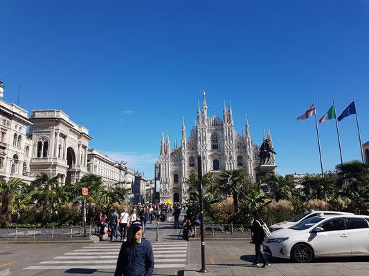 Der Mailänder Dom durfte beim AUsflug nach Mailand natürlich nicht fehlen