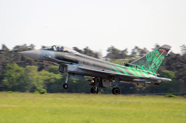 Der Eurofighter bot eine unglaubliche Solo-Flugvorführung