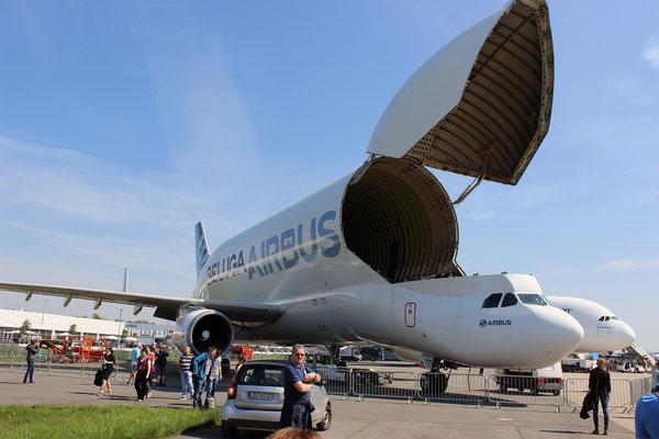 Die Beluga von Airbus war auch vor Ort
