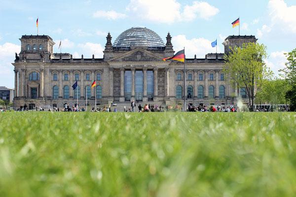 Am Anreisetag stand noch Sightseeing auf dem Programm, hier das Reichstagsgebäude