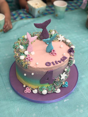 Vegan zeemeerminnen taart