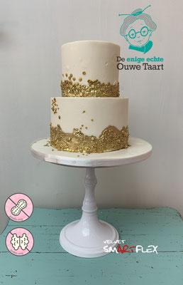 2 laags taart met gold twist