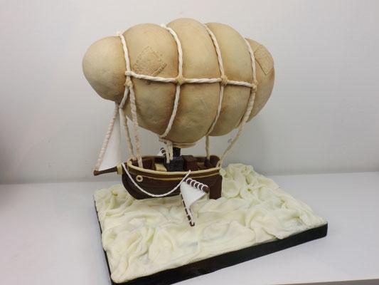 Steampunk luchtballon 3d taart