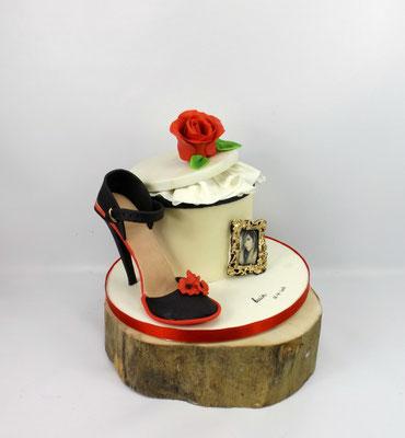 High heel taart