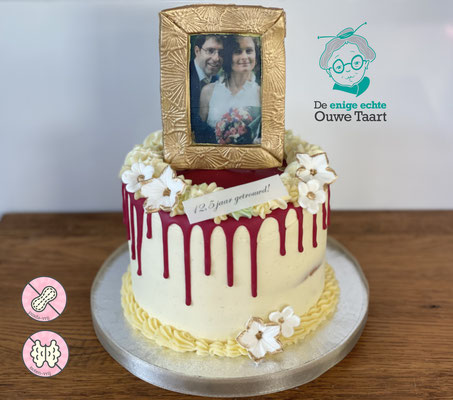 12,5 jaar getrouwd dripcake