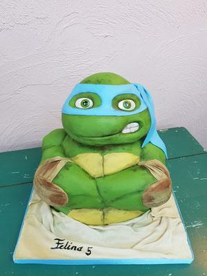 Ninja turtle taart