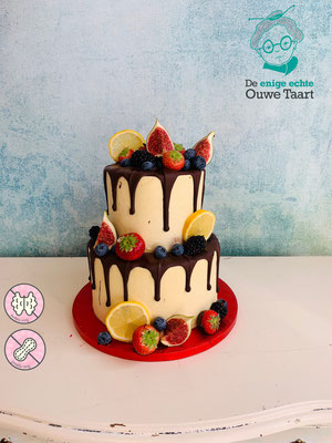 Dripcake 2 laags met vers fruit