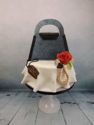 Custom made handtas taart 3d