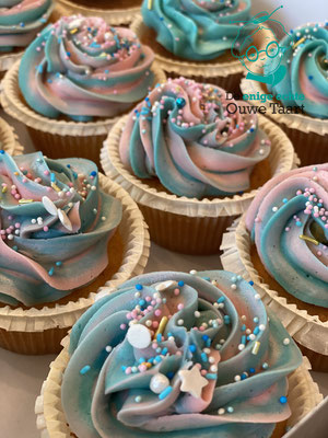 gender reveal cupcakes #genderreveal #cupcakes