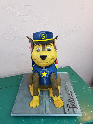3d taart Paw patrol, Chase 3d taart