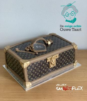 3d louis Vuitton koffer taart