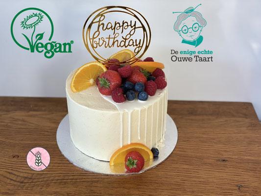 #vegantaart en #glutenvrije taart #vegan #vegandripcake