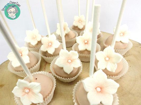 Cakepops met bloem