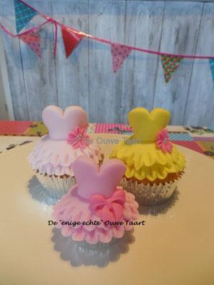 Prinses jurk cupcakes