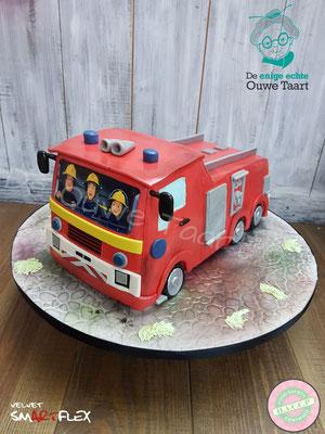 Brandweerman Sam 3d taart