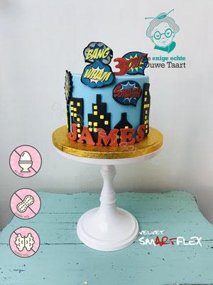 Ei vrije super helden taart