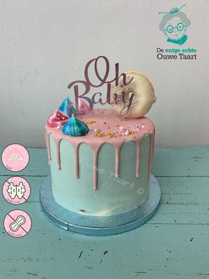 O baby gender reveal taart