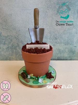 Tuinpot taart, schep taart, 3d taart