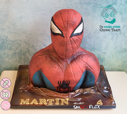 Spiderman 3d taart, spiderman 3d cake
