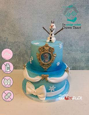 Prinses taart, olaf taart , Frozen taart