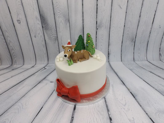 Kerst taart met hertje