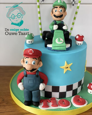 Mario kart taart, Luigi Kart taart #luigitaart #mariobrosstaart #karttaart