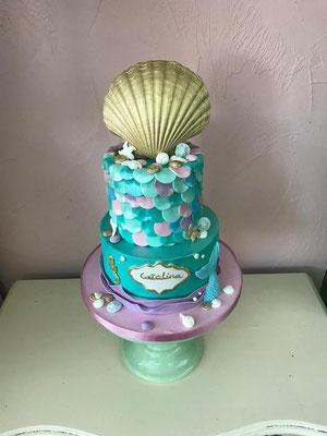 Zeemeermin taart feestje