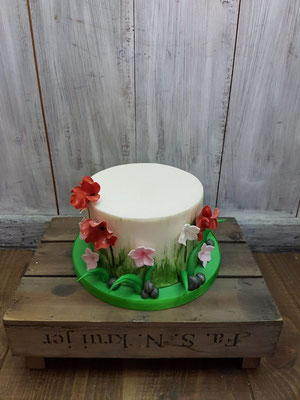 Bloemen taart, lente taart