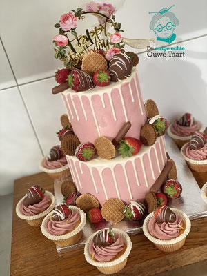 dripcake vers fruit en aardbeien