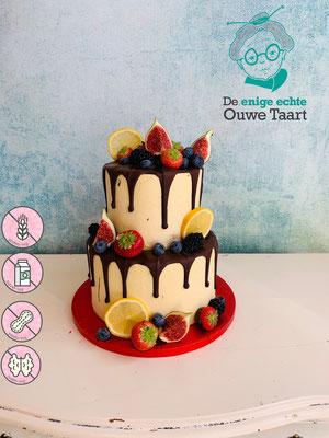 Dripcake met vers fruit