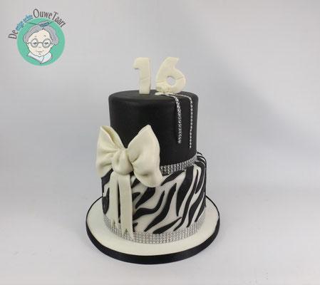 Zebra print taart