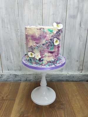 buttercream cake paars