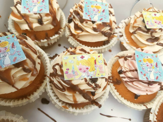 citroen cupcakes met pure chocolade steentjes