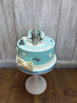 babyshowertaart olifant